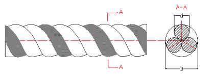 stranded disegno filo di tungsteno